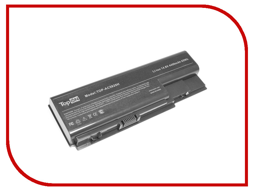 Аккумулятор TopON TOP-AC5920-15V 14.8V 4400mAh для Acer Aspire 5310G/531/Aspire 5520/5920/6530/7230E/8730ZG/8920 аккумулятор topon top k53 для 10 8v 4400mah pn a32 k53 a42 k53 a43ei241sv sl