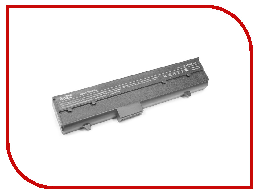Аккумулятор TopON TOP-DL640 11.1V 4400mAh для Dell Inspiron 630m/640m/E1405/XPS M140 Series аналог PN: TC023/Y9943/Y9947/Y9948 аккумулятор topon top k53 для 10 8v 4400mah pn a32 k53 a42 k53 a43ei241sv sl