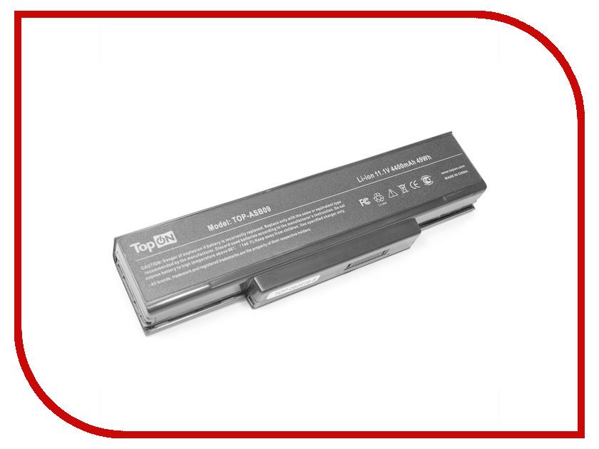 Аккумулятор TopON TOP-ASB09 11.1V 4400mAh для ASUS Z53/S62/Z9400/A9/F2/F3/M51/Benq Joybook R55/Clevo M660/Hasee W/Lg E500/Msi M67SU Series