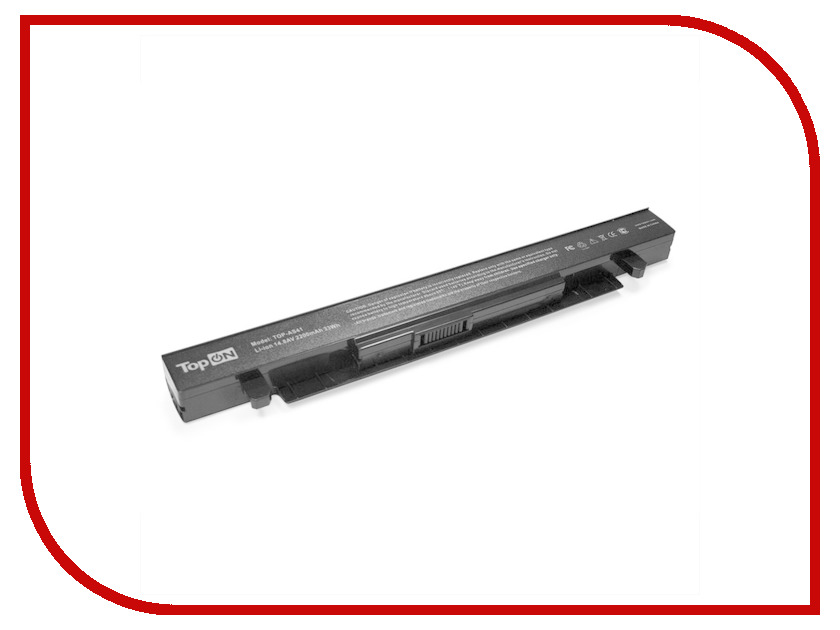 Аккумулятор TopON TOP-AS41 14.8V 2200mAh для ASUS X550/X550D/X550A/X550L/X550C/X550V Series аналог PN: A41-X550/A41-X550A<br>