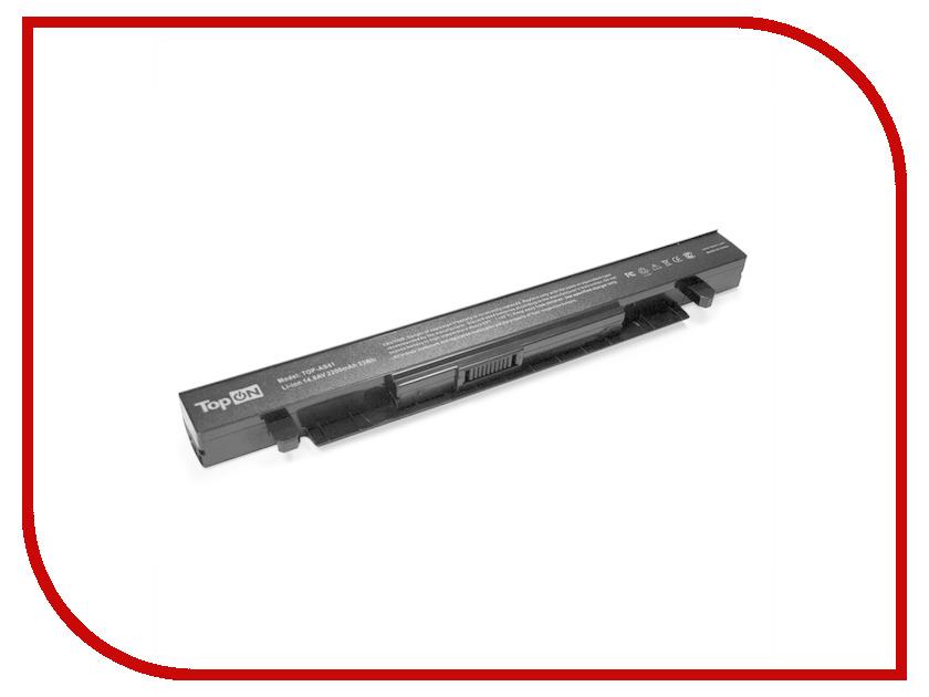 Аккумулятор TopON TOP-AS41 14.8V 2200mAh для ASUS X550/X550D/X550A/X550L/X550C/X550V Series аналог PN: A41-X550/A41-X550A