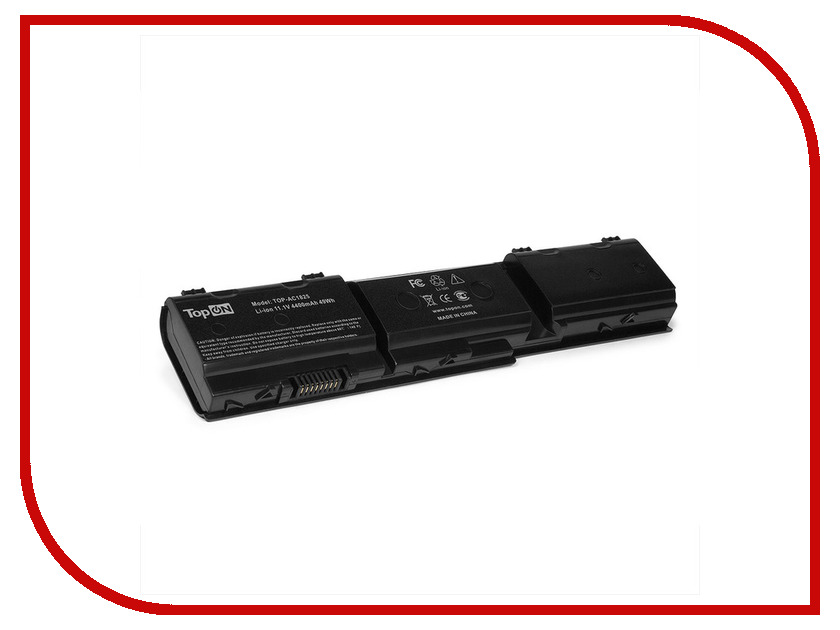 Аккумулятор TopON TOP-AC1825 11.1V 4400mAh для Acer Aspire 1420P/1820/1825/TimeLine 1825 аналог PN: 3ICR19/66-2/934T2053F/AK.006BT.069/BT.00603.105/BT.00607.114/LC32SD128/UM09F36/UM09F70