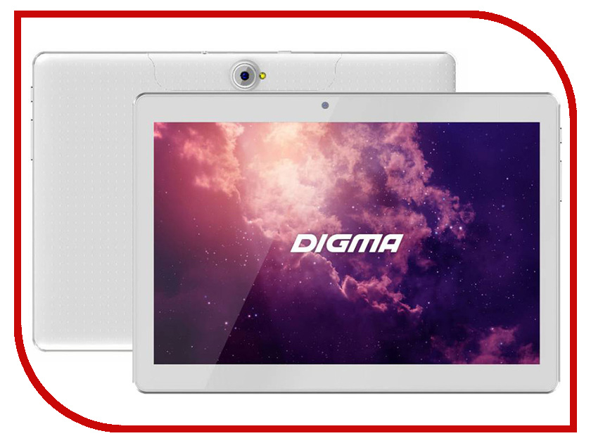 Планшет Digma Plane 1601 3G White PS1060MG (MediaTek MTK8321 1.3 GHz/1024Mb/8Gb/GPS/Wi-Fi/Bluetooth/Cam/10.1/1280x800/Android)
