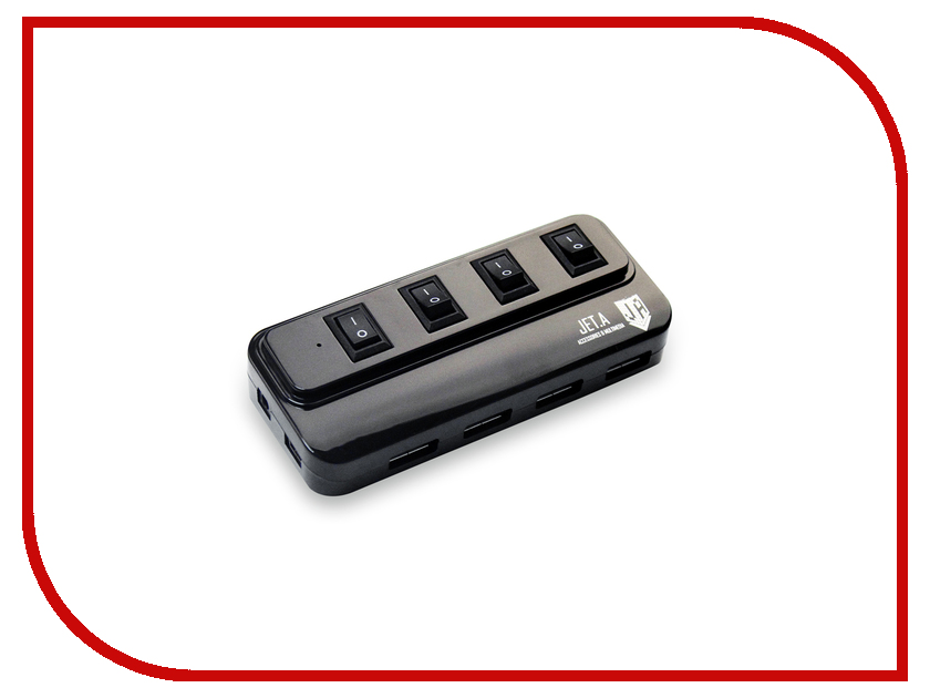 Хаб USB Jet.A JA-UH15 USB 4 ports Black<br>