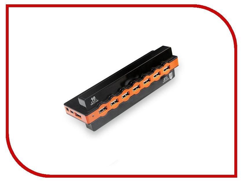 Хаб USB Jet.A JA-UH28 USB 10 ports Black