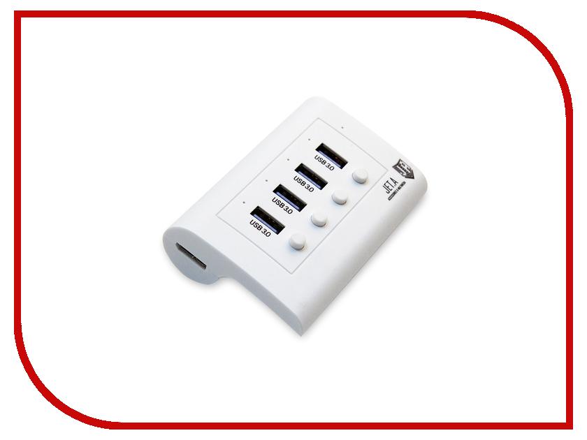 Хаб USB Jet.A JA-UH34 USB 3.0 4 ports White