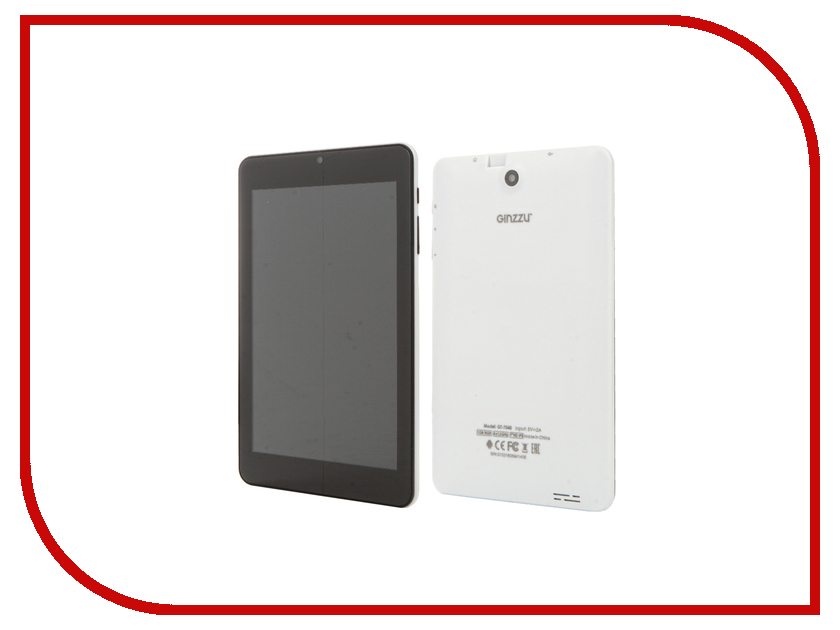 Планшет Ginzzu GT-7040 White (Allwinner A33 1.2 GHz/1024Mb/8Gb/Wi-Fi/Bluetooth/Cam/7.0/1280x800/Android) планшет ginzzu gt x770 white rev 2