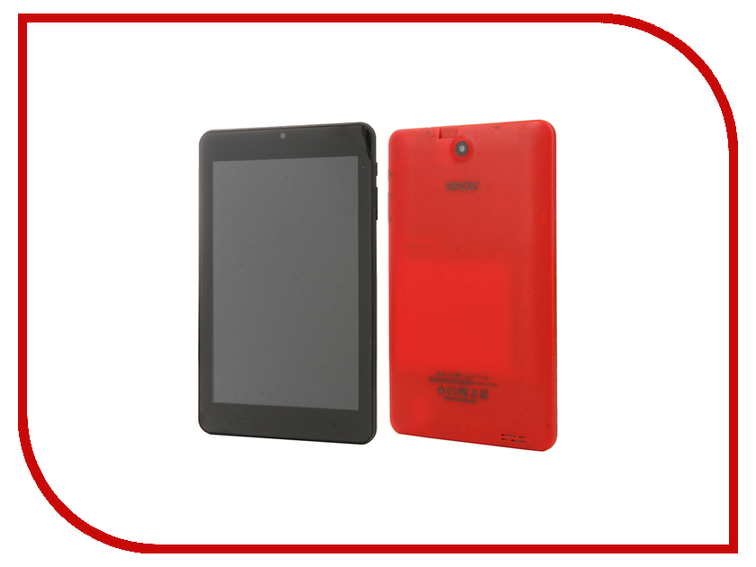 Планшет Ginzzu GT-7040 Red (Allwinner A33 1.2 GHz/1024Mb/8Gb/Wi-Fi/Bluetooth/Cam/7.0/1280x800/Android)<br>
