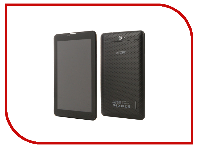 Планшет Ginzzu GT-7050 Black (Spreadtrum SC7731 1.3 GHz/1024Mb/8Gb/Wi-Fi/3G/Bluetooth/Cam/7.0/1024x600/Android) планшет ginzzu gt 8005 black spreadtrum