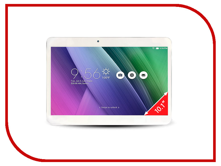 Планшет Ginzzu GT-1030 White Intel Atom x3-C3230RK 1.0 GHz/1024Mb/8Gb/GPS/3G/Wi-Fi/Bluetooth/Cam/10.1/1024x600/Android<br>