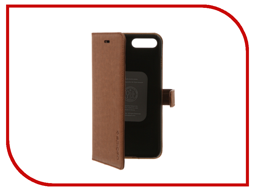 Аксессуар Чехол Spigen SGP Wallet S для APPLE iPhone 7 Plus Brown 043CS20544<br>