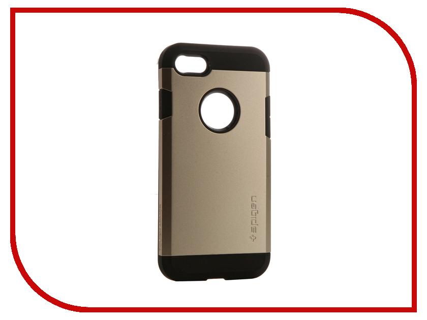 Аксессуар Чехол Spigen SGP Tough Armor для APPLE iPhone 7 Champagne 042CS20490<br>