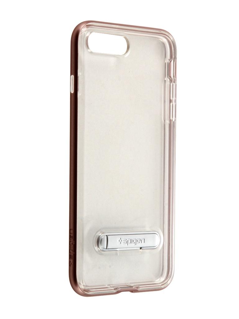 Аксессуар Чехол Spigen для APPLE iPhone 7 Plus Crystal Hybrid Rose Gold 043CS20510