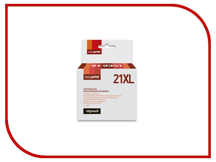 Картридж EasyPrint IH-9351 №21XL для HP Deskjet 3920/3940/D1360/D1460/D2430/D2460/F2180/F2280/F2290/F380/F390/F4140/F4180/F4190/Officejet 4315/4355/PSC 1410/1415 Black