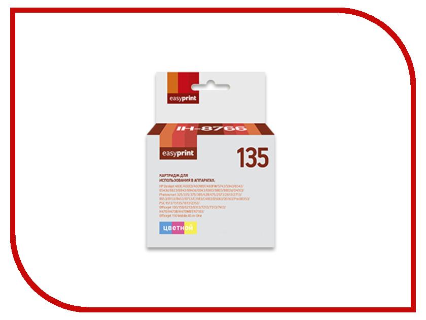 Картридж EasyPrint IH-8766 №135 для HP Deskjet 460/5743/5943/6543/6623/6843/6943/6983/9803/D4163/Photosmart 325/335/375/385/428/475/2573/2613/2713/8053/8153/8453/8753/C3183/C4183/D5063/D5163/Pro B8353/PSC 1513/1613/2353/Officejet 100/150/6213/6313/7213/7313/7413 картридж hp 135 c8766he tri colour для dj5743 6543 6843 oj6213 7313 7413 ps2613 2713 8153 8453