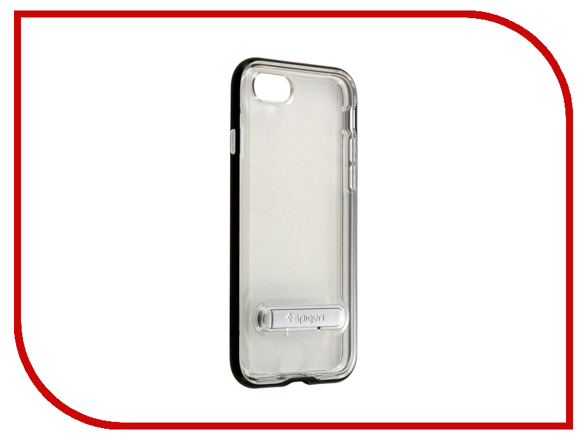 Аксессуар Чехол Spigen SGP Crystal Hybrid для APPLE iPhone 7 Black 042CS20671<br>
