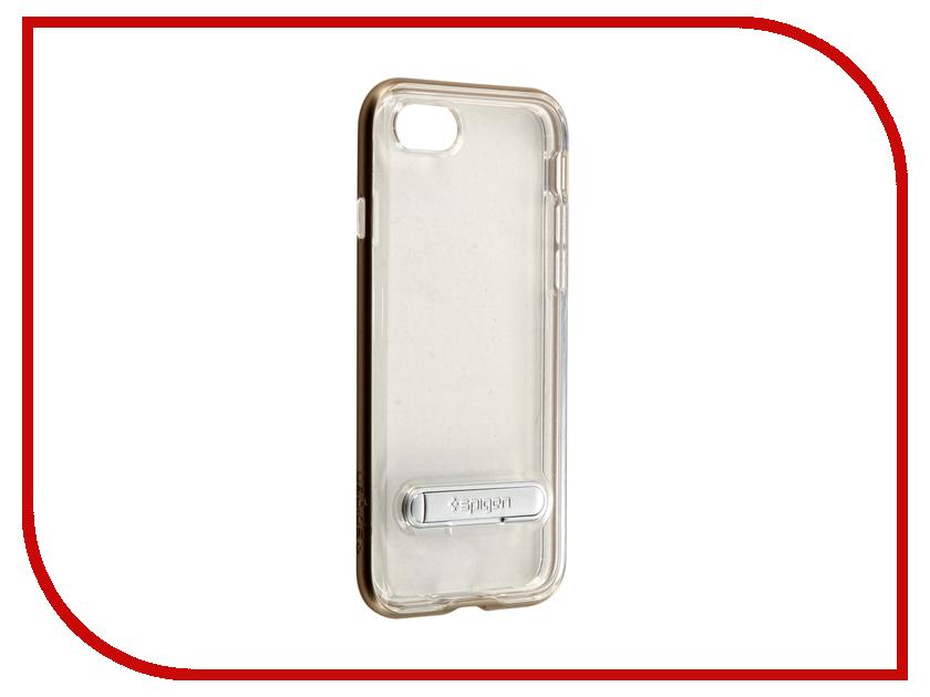 Аксессуар Чехол Spigen SGP Crystal Hybrid для APPLE iPhone 7 Gold 042CS20460<br>