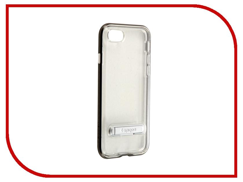 Аксессуар Чехол Spigen Crystal Hybrid для APPLE iPhone 7 Steel 042CS20459 чехол накладка чехол накладка iphone 6 6s 4 7 lims sgp spigen стиль 7 580081