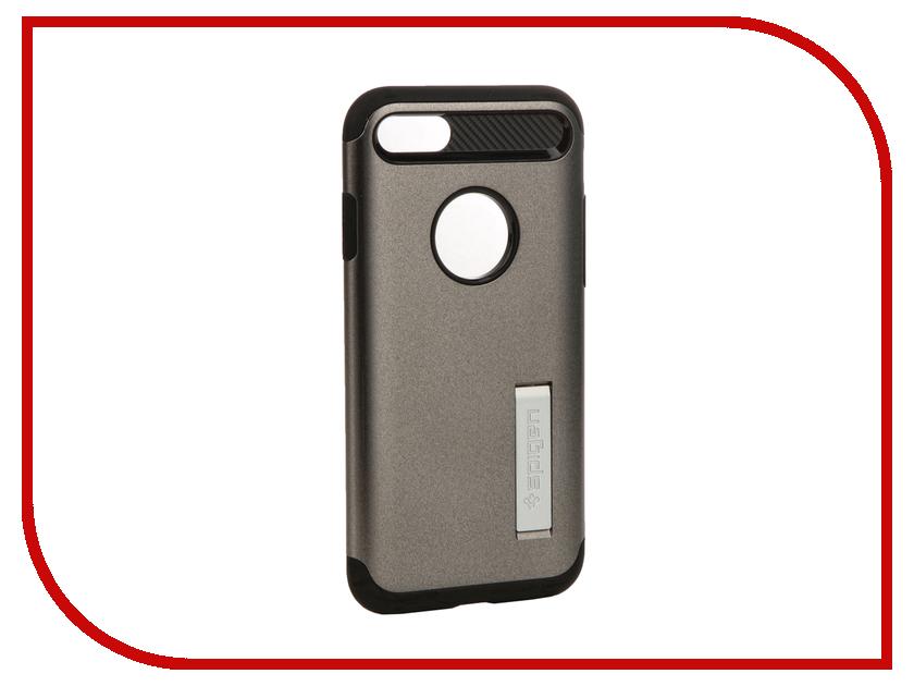 Аксессуар Чехол Spigen SGP Slim Armor для APPLE iPhone 7 Steel 042CS20301 чехол накладка 580077 iphone 6 6s 4 7 lims sgp spigen стиль 3