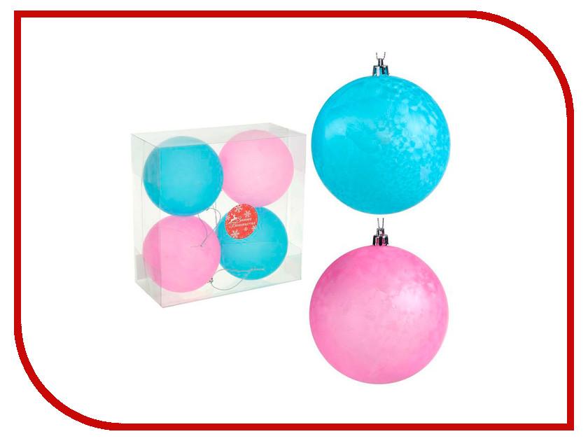 Украшение СИМА-ЛЕНД Набор шаров Розово-голубой туман 4шт 1307163