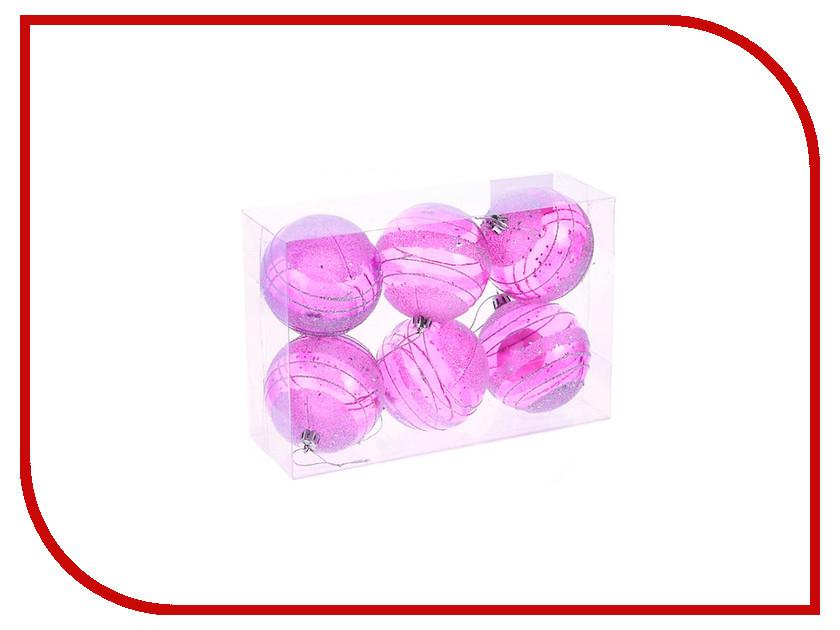 Украшение СИМА-ЛЕНД Набор шаров Пурпурная дымка 6шт 1009389<br>