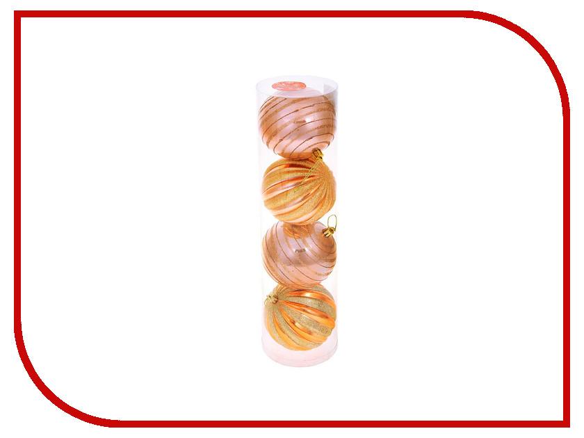 Украшение СИМА-ЛЕНД Набор шаров Бронзовая звёздная дорожка 4шт 1009451