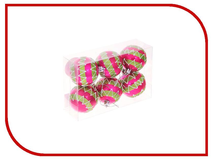Украшение СИМА-ЛЕНД Набор шаров Яркий зигзаг 6шт 1009491