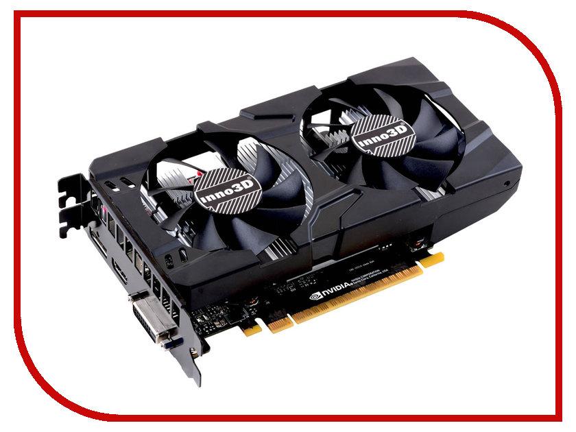 Видеокарта Inno3D GeForce GTX 1050 Ti Twin X2 1290Mhz PCI-E 3.0 4096Mb 7000Mhz 128 bit DVI HDMI HDCP N105T-1DDV-M5CM видеокарта 6144mb msi geforce gtx 1060 gaming x 6g pci e 192bit gddr5 dvi hdmi dp hdcp retail