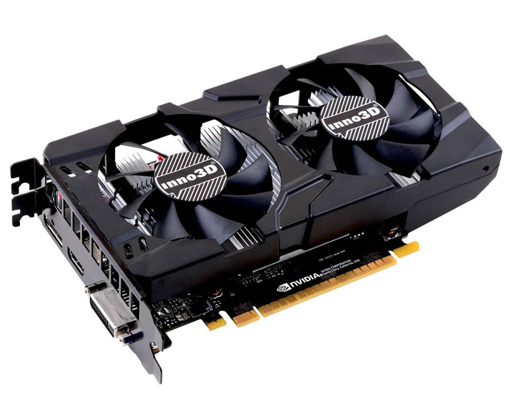 Видеокарта Inno3D GeForce GTX 1050 Ti Twin X2 1290Mhz PCI-E 3.0 4096Mb 7000Mhz 128 bit DVI HDMI HDCP N105T-1DDV-M5CM видеокарта inno3d geforce gtx 1050 2048mb twin x2 n1050 1ddv e5cm dvi d hdmi dp ret