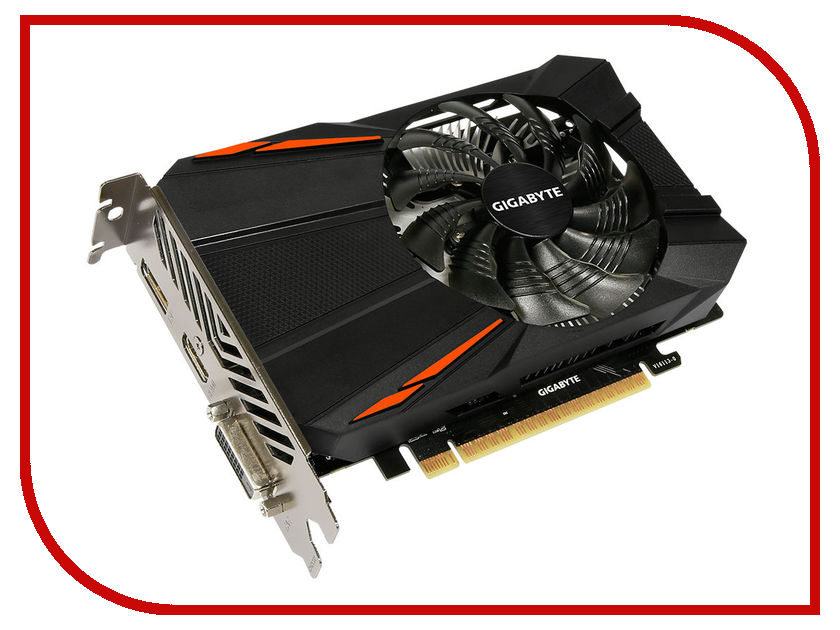 Видеокарта GigaByte GeForce GTX 1050 Ti 1290Mhz PCI-E 3.0 4096Mb 7008Mhz 128 bit DVI HDMI HDCP GV-N105TD5-4GD gv n1070g1 gaming 8gd gigabyte