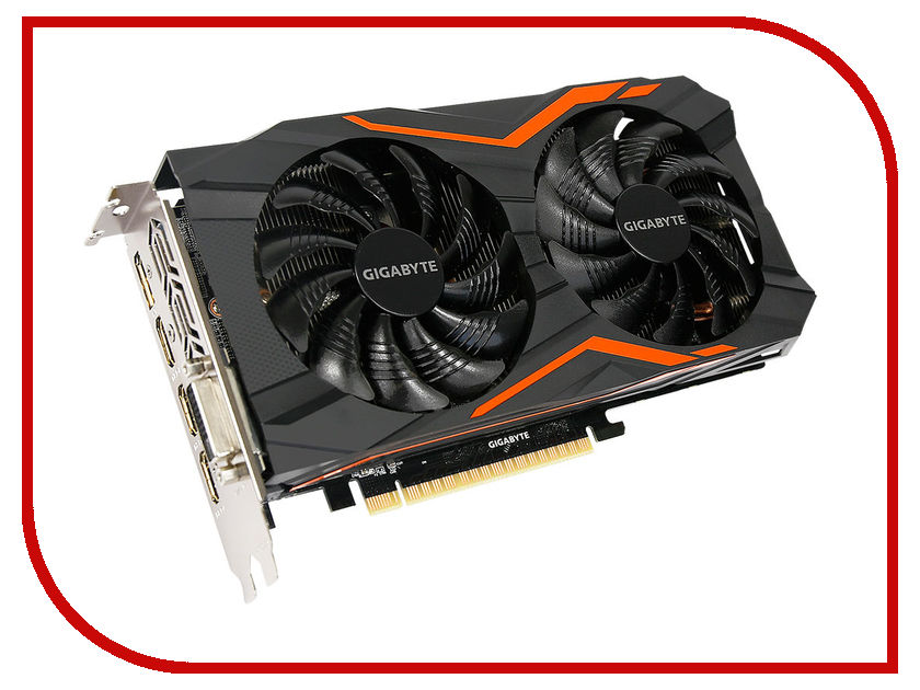 Видеокарта GigaByte GeForce GTX 1050 1417Mhz PCI-E 3.0 2048Mb 7008Mhz 128 bit DVI 3xHDMI HDCP G1 Gaming GV-N1050G1 GAMING-2GD