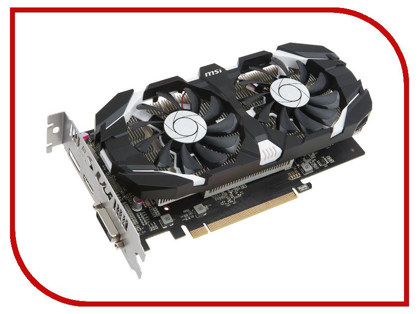 Видеокарта MSI GeForce GTX 1050 1404Mhz PCI-E 3.0 2048Mb 7008Mhz 128 bit DVI HDMI HDCP OC Dual Fans GTX 1050 2GT OC