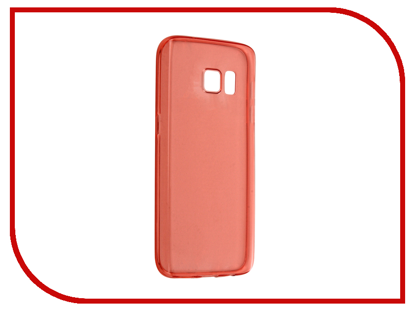 где купить Аксессуар Чехол-накладка Samsung Galaxy S7 BROSCO Red SS-S7-TPU-RED дешево
