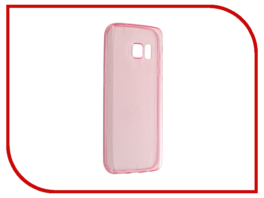 все цены на Аксессуар Чехол-накладка Samsung Galaxy S7 BROSCO Pink SS-S7-TPU-PINK
