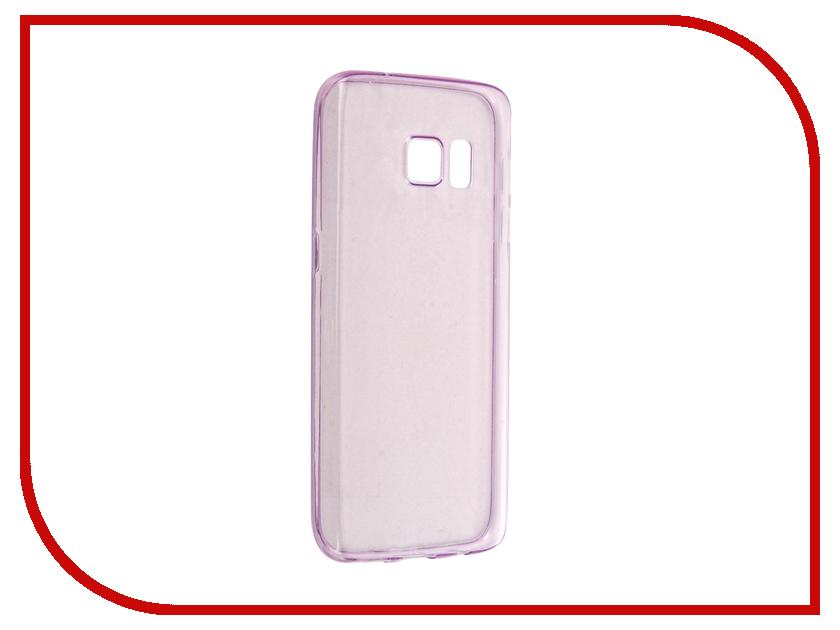 Аксессуар Чехол-накладка Samsung Galaxy S7 BROSCO Purple SS-S7-TPU-PURPLE<br>