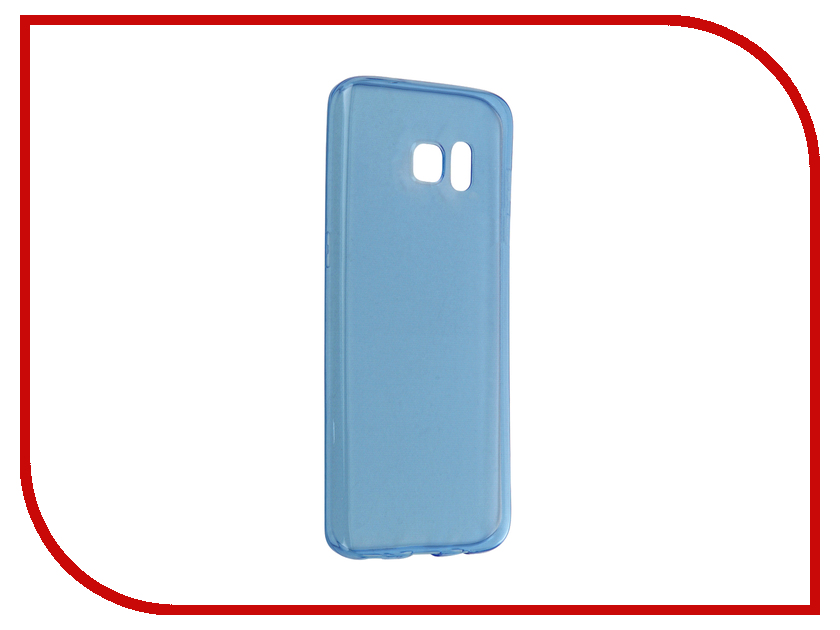 Аксессуар Чехол-накладка Samsung Galaxy S7 Edge BROSCO Blue SS-S7E-TPU-BLUE<br>