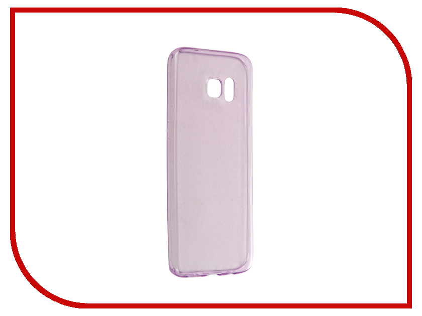Аксессуар Чехол-накладка Samsung Galaxy S7 Edge BROSCO Purple SS-S7E-TPU-PURPLE<br>