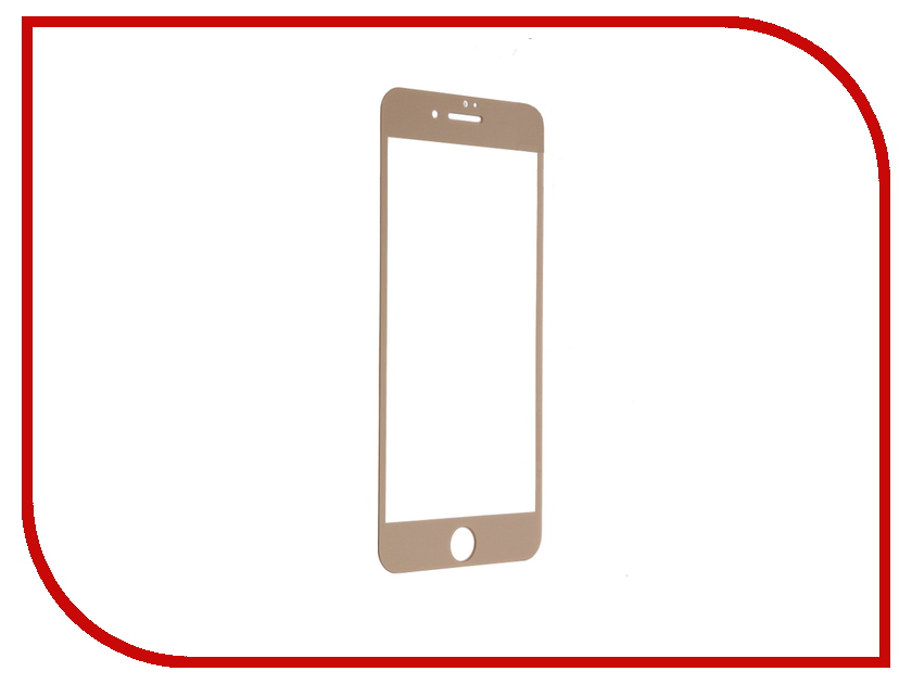 Аксессуар Защитное стекло Krutoff 3D для APPLE iPhone 7 Plus Rose Gold 20226 защитное стекло onext для apple iphone 7 plus глянцевое