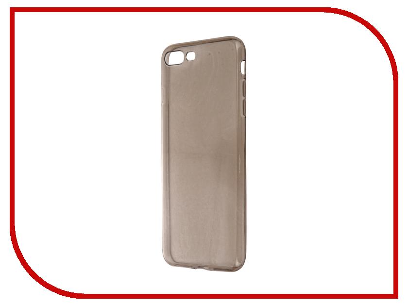 Аксессуар Чехол Krutoff для APPLE iPhone 7 Plus Transparent-Black 11785<br>