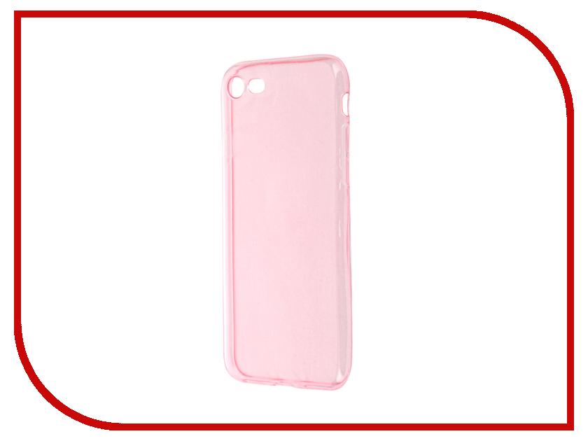 Аксессуар Чехол Krutoff для APPLE iPhone 7 Transparent-Pink 11789<br>