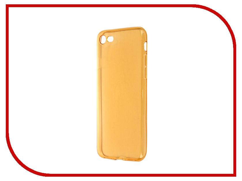 Аксессуар Чехол Krutoff для APPLE iPhone 7 Transparent-Gold 11787 аксессуар чехол krutoff для iphone 6 transparent black 10675