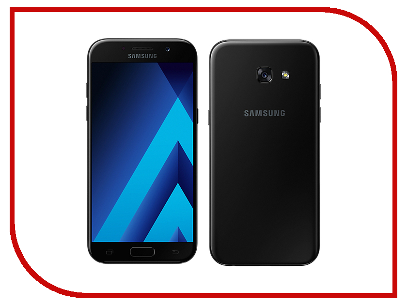 Сотовый телефон Samsung SM-A520F Galaxy A5 (2017) Black сотовый телефон samsung sm j320f ds galaxy j3 2016 black