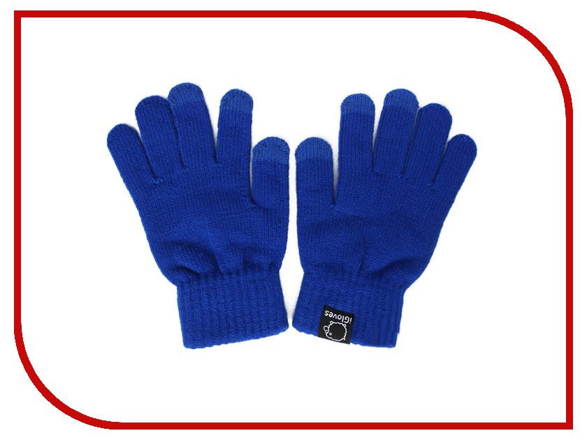 Теплые перчатки для сенсорных дисплеев iGloves W3 р.UNI Blue теплые перчатки для сенсорных дисплеев igloves v23 р uni red navy