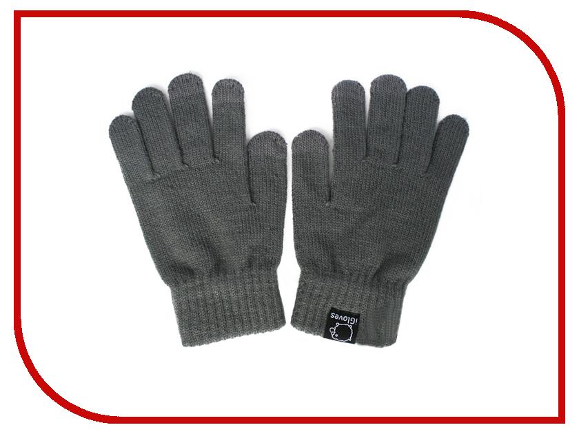 Теплые перчатки для сенсорных дисплеев iGloves W2 Grey
