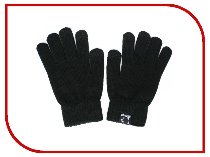 Теплые перчатки для сенсорных дисплеев iGloves W1 р.UNI Black теплые перчатки для сенсорных дисплеев icasemore кашемировые с кнопкой black