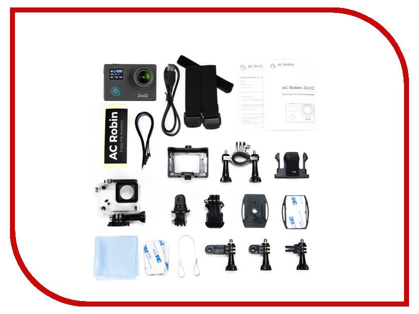 Экшн-камера AC Robin Zed 2 Black universal us plug ac power adapter charger w 5 5 x 2 1 dc plug black ac 100 240v
