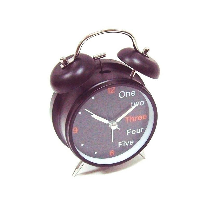 Часы Эврика Будильник D-11.6cm One, Two, Three Black 91862 цена