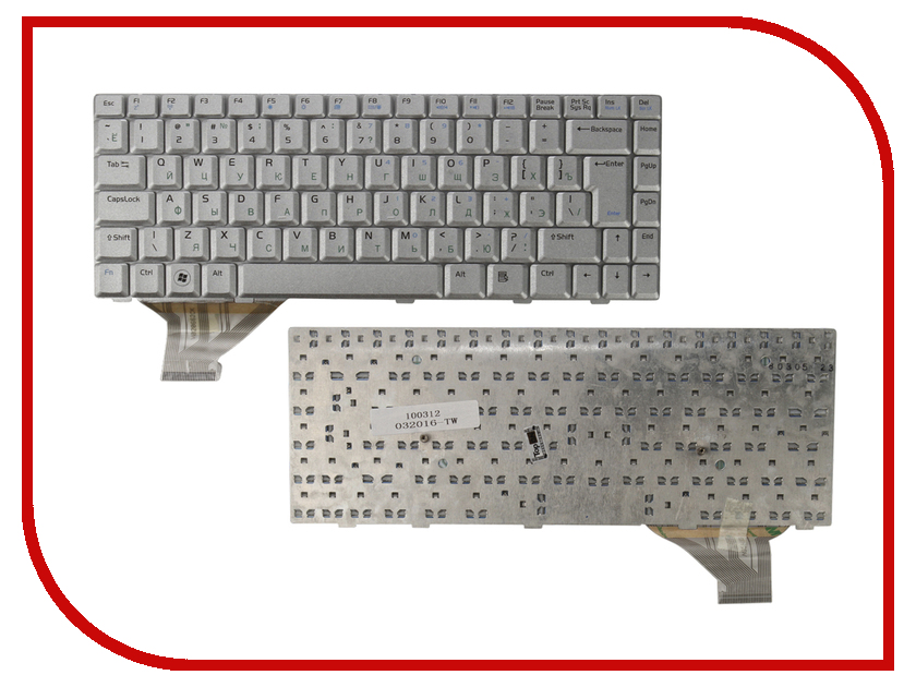 Клавиатура TopON TOP-100312 для ASUS A8 / F8 / N80 / Z99 Series Silver