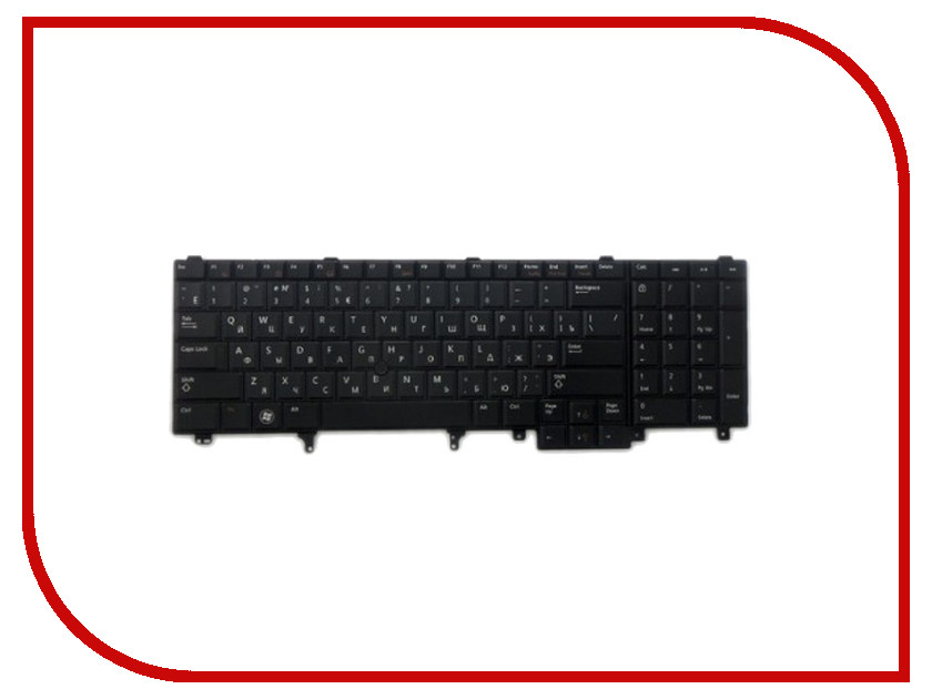 Клавиатура TopON TOP-100373 для Dell E5520 / E6520 / M4600 Series Black<br>