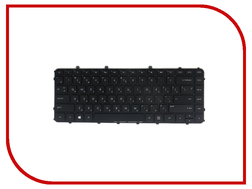 Клавиатура TopON TOP-100478 для HP Envy 4-1000 / 4-1100 / 4-1200 / 6-1000 Series Black блок питания topon top hp65 19 5v 3 34a 4 5x3 0mm 65w для hp pavilion m6 13 15 envy 14 spectre 13 series